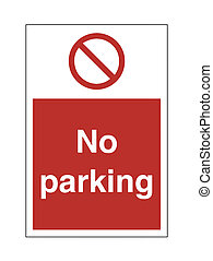 No Parking - High Resolution No Parking Safety Sign