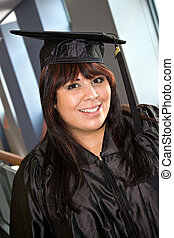 School Graduation - A woman that recently had a school...