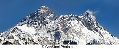 Panoramic view of Everest, Lhotse and Nuptse from Renjo...