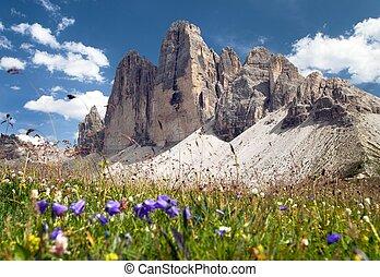Drei Zinnen or Tre Cime di Lavaredo, Italian Alps - Drei...