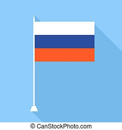 Flag of Russia . Vector