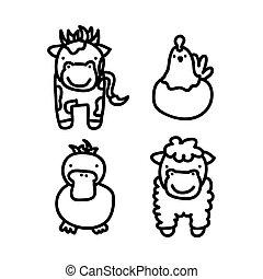 farm animals design