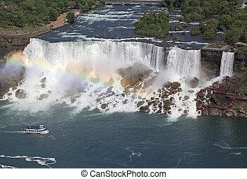 American Falls, aerial view Niagara - American Falls, aerial...