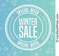 winter sale design, vector illustration eps10 graphic