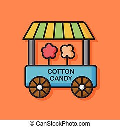 cotton candy dining car icon
