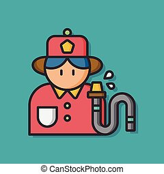 occupation character fire fighter icon