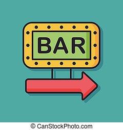 bar sign vector icon