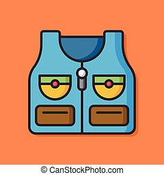 Fisherman vest vector icon