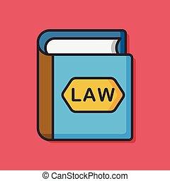 law book vector icon