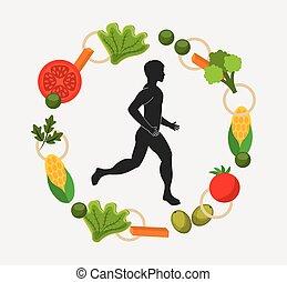 healthy lifestyle design - healthy lifestyle design, vector...