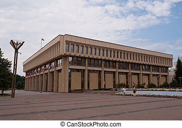 Lithuanian Parliament - Lithuanian parliament buildings in...