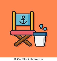 fishing chair vector icon