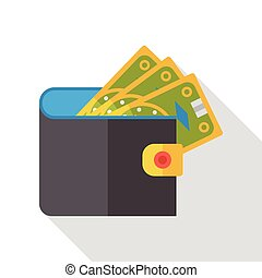 money wallet flat icon