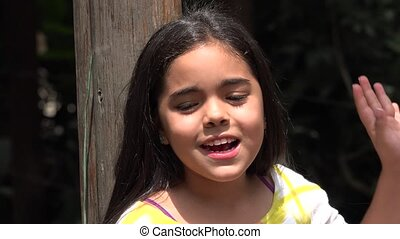 Young Girl Eating Popsicle