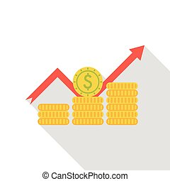 stock money flat icon