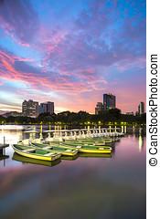 Boats state park in Bangkok