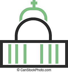 Cathedral, vatican, church icon vector imageCan also be used...