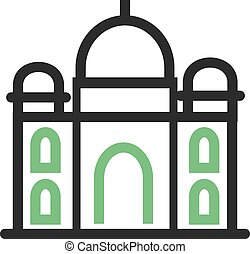Taj Mahal, india, architecture icon vector imageCan also be...