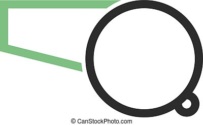 Whistle, referee, coach icon vector image. Can also be used...