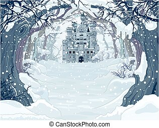 Magic Winter Castle - Magic Fairy Tale Winter Princess...