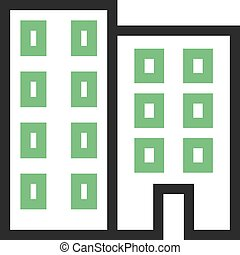 Office Building - Building, business, office icon vector...