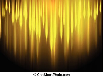 Glow yellow stripes abstract background - Glow yellow...