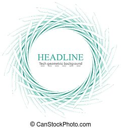 Abstract scratchy turquoise logo on white Vector background