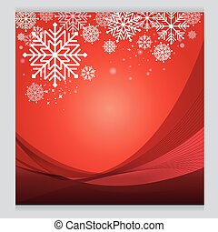 Vector Christmas red background design Cold
