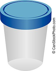 Plastic container for urine - The plastic container for...