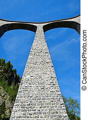 Landwasser viaduct in Filisur - canton Graubunden,...