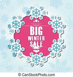 Winter sale background banner