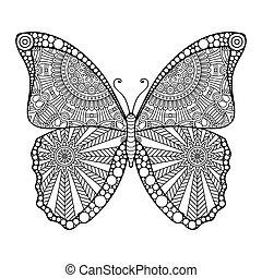 Vector abstract Butterfly - Ornament beautiful card with...