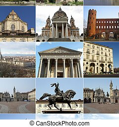 Turin collage - Turin landmarks collage including ancient...
