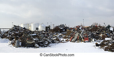 Recycle yard - Scrap Metal and household waste at recycling...