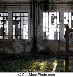 Abandoned factory - Industrial architecture of an old...