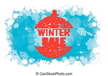 Winter sale abstract background