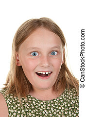 surprised young girl - image of a surprised young girl...