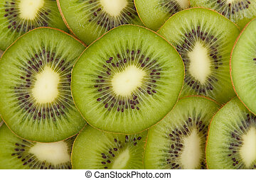 Kiwi fruit slices - Green kiwi fruit slices