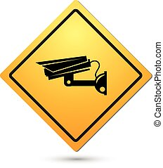 Video surveillance sign. CCTV Camera. vector