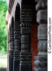 beautiful hindu temple columns