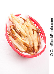 organic hand cut french fries - hand cut organic french...