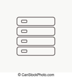 Computer server line icon. - Computer server line icon for...