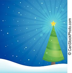 Stylized Christmas tree topic image 3 - eps10 vector...