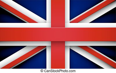 union Jack with effects - Flag of Great Britain made of red...