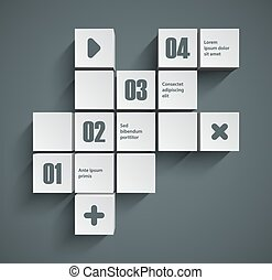 Cubes background - Abstract squares background. Good...