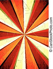 rays background - Retro concentric rays background EPS10...