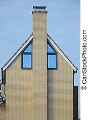 Side of Modern House and Chimney