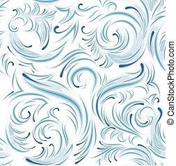 Frosting on glass. Frosty pattern