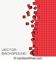 vector pixel background - Pixel art and digital binary code...