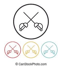 Fencing line icon